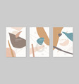 a set posters a composition with abstract vector image