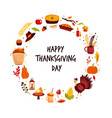 abstract circle design for thanksgiving day with vector image vector image