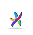 Abstract colorful star logo icon