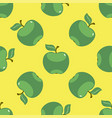 apple green yellow seamless pattern background vector image vector image