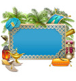Arabic Frame with Palm Tree vector image vector image