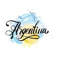 Argentina vintage card vector image