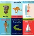 Australia Mini Poster Set vector image vector image