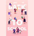 back to school parents with kids and teacher vector image vector image