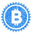 bitcoin medal coin grunge icon vector image vector image