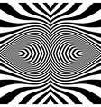 Black and White Abstract Striped Background vector image vector image
