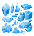 blue ice pieces vector image vector image