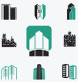 Buildings web icons set