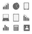 Business icon set on white background vector image