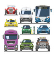 car front view auto delivery transport vector image vector image