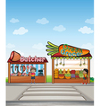 cartoon Shops vector image vector image