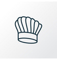 chef hat icon line symbol premium quality vector image
