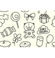 children seamless texture batheme pattern vector image