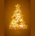 christmas and new years golden background vector image vector image