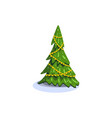 christmas fir isolated vector image vector image