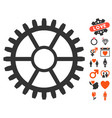 clock wheel icon with dating bonus vector image