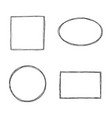 collection of frames vector image vector image