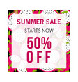 colorful summer sale banner with pitaya design vector image
