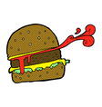 comic cartoon burger vector image