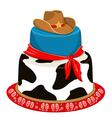 Cowboy party birthday cake vector image vector image