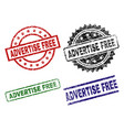 damaged textured advertise free stamp seals vector image vector image