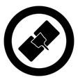 drywall repair icon black color in circle vector image