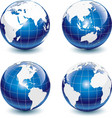 earth-globe icons vector image vector image