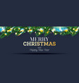 fir branches with neon lights christmas vector image vector image