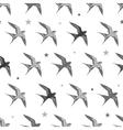 Flying Martins and Swallows Birds Diagonal vector image