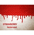 Fresh Strawberry background vector image vector image