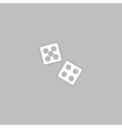 game dice computer symbol vector image vector image