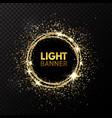 glitter circle festive gold sparkle background vector image vector image