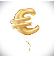 gold euro symbol alphabet balloons money and vector image