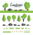 green landscape set vector image