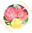 hand drawn tropical plant pink rose split leaf vector image vector image