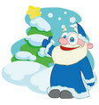happy santa clauscartoon character vector image vector image