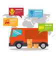 import free shipping infographic vector image