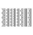lace ornament seamless decorative borders vector image