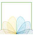 leaf color contour on white background vector image vector image