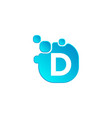 letter d bubble logo template or icon vector image vector image