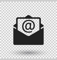 mail envelope icon on isolated background symbols vector image vector image