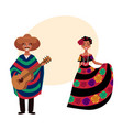 mexican man and woman in traditional national vector image vector image