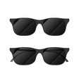 modern glossy sunglasses on white vector image
