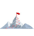 mountain climbing route to peak vector image vector image