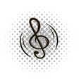 Music note sign comics icon vector image