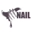 nail studio or beauty salon isolated icon female vector image vector image