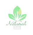 natural logo template with abstract green leaves vector image vector image