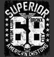 new york varsity tee graphic design vector image