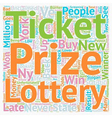 NY Lottery Results text background wordcloud vector image vector image