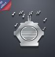 old analog radio icon symbol 3D style Trendy vector image